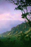 Purple Nature Art Art - Na Pali Coast by Greg Vaughn - Printscapes