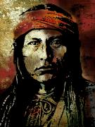 American Indian Portrait Prints - Naichez Print by Paul Sachtleben