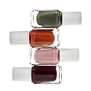 Makeup Photo Posters - Nail polish bottles Poster by Elena Elisseeva