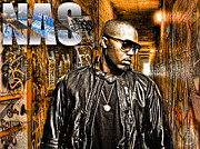 Photo Manipulation Mixed Media Posters - Nas Poster by The DigArtisT