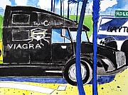 Nascar Paintings - Nascar VIAGRA by Lesley Giles