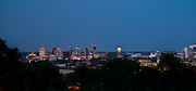 Nashville Tennessee Prints - Nashville by Night 1 Print by Douglas Barnett
