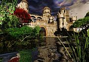 Fantasy Mixed Media Metal Prints - Natalies Castle Metal Print by Steven Palmer