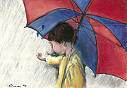 Umbrella Pastels Framed Prints - Nathan Framed Print by Ana Picolini