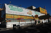 American City Scene Digital Art - Nathans Famous by Rob Hans