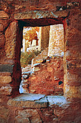 Pueblo Posters - Native American Cliff Dwellings Poster by Jill Battaglia