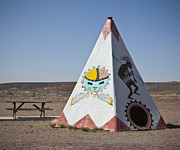 Indigenous Culture Prints - Native American Tipi Replica Print by Paul Edmondson
