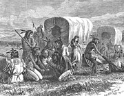 Conestoga Wagon Photos - Native Americans: Gambling, 1870 by Granger