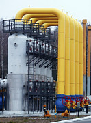Compressor Prints - Natural Gas Compressor Station Print by Ria Novosti
