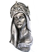 Portraits Sculpture Acrylic Prints - Natural Mystic Acrylic Print by Wayne Niemi