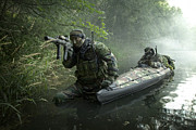 Concentration Prints - Navy Seals Navigate The Waters Print by Tom Weber