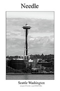 Space Needle Photographs Framed Prints - Needle Framed Print by William Jones