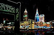 Cleveland Framed Prints - Neon Night Framed Print by Kenneth Krolikowski