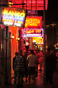 Neons On Bourbon Street Print by Bourbon  Street