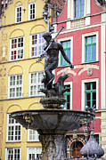 Neptune Fountain In Gdansk Print by Artur Bogacki