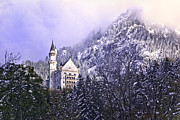 King Ludwig Posters - Neuschwanstein Castle Poster by Anthony Citro
