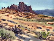 Southwestern Landscape Posters - New Mexico Butte Poster by Donald Maier