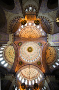 Artur Framed Prints - New Mosque Ceiling Framed Print by Artur Bogacki