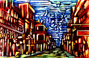 Abstract Realist Landscape Prints - New Orleans Print by Giuliano Cavallo