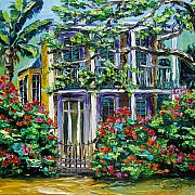 Original Paining Prints - New Orleans Painting Behind The Gate B. Sasik Print by Beata Sasik