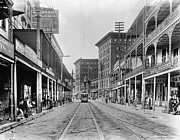 St Charles Avenue Photos - New Orleans: Street Scene by Granger