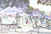 Fort Collins Digital Art Prints - New West Fest Street Fair Print by Annie Johnson