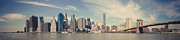 Thomas Richter Metal Prints - New York City - Manhattan Waterfront Panorama Metal Print by Thomas Richter