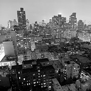 Downtown District Prints - New York City At Night Print by Adam Garelick