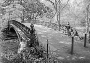 Jet Lowe Framed Prints - New York City, Central Park, Bridge Framed Print by Everett