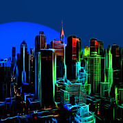 Moonlight Paintings - New York Colors by Stefan Kuhn