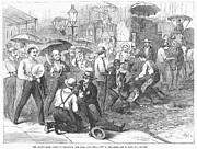 Crowd Scene Art - New York: Heat Wave, 1868 by Granger