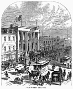 Crowd Scene Art - New York: The Bowery, 1871 by Granger