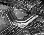 Brooklyn Dodgers Stadium Prints - New York: Yankee Stadium Print by Granger