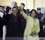 Michelle Obama Photos - Newly Inaugurated President by Everett