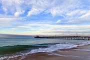 Balboa Framed Prints - Newport Beach Pier Framed Print by Paul Velgos