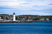 New England Ocean Framed Prints - NH Lighthouse Framed Print by Edward Myers