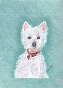 Animal Portrait Framed Prints Prints - Nick Print by Linda Ginn