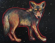 Coyote Art Paintings - Night Coyote by Carol Suzanne Niebuhr