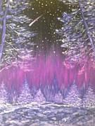 Snowy Night Metal Prints - Night Fantasy  Metal Print by Irina Astley