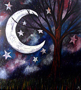 Lonesome Posters - Night gazing Poster by Monica Furlow