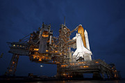 Atlantis Photos - Night View Of Space Shuttle Atlantis by Stocktrek Images