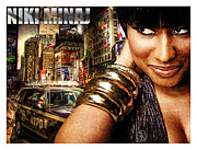 Niki Minaj Metal Prints - Niki Minaj Metal Print by The DigArtisT