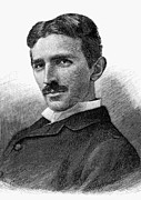 Physicist Prints - Nikola Tesla (1856-1943) Print by Granger