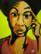 Fleurant Paintings - Nina Simone  by Jason JaFleu Fleurant