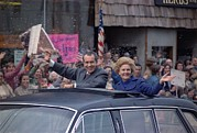 First Lady Metal Prints - Nixon 1972 Re-election Campaign Metal Print by Everett