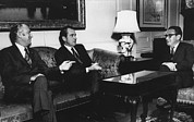 Kissinger Prints - Nixon Presidency.  From Left Us Print by Everett