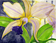 Singer Painting Originals - No Ordinary Orchid by Debi Singer