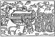 Noah Framed Prints - Noahs Ark, 16th-century Bible Framed Print by King
