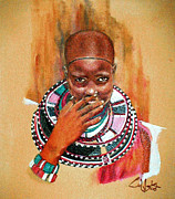 Maasai Painting Originals - Nontubula by G Cuffia