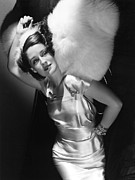 Satin Dress Photo Framed Prints - Norma Shearer Framed Print by Everett